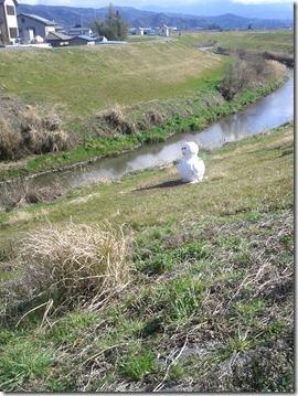 snowman in march