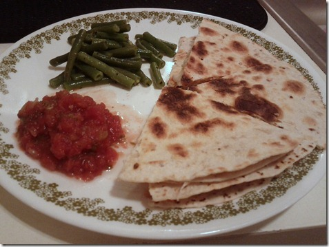 quesadillas green beans