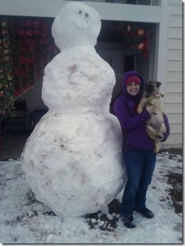 giant snowman pug