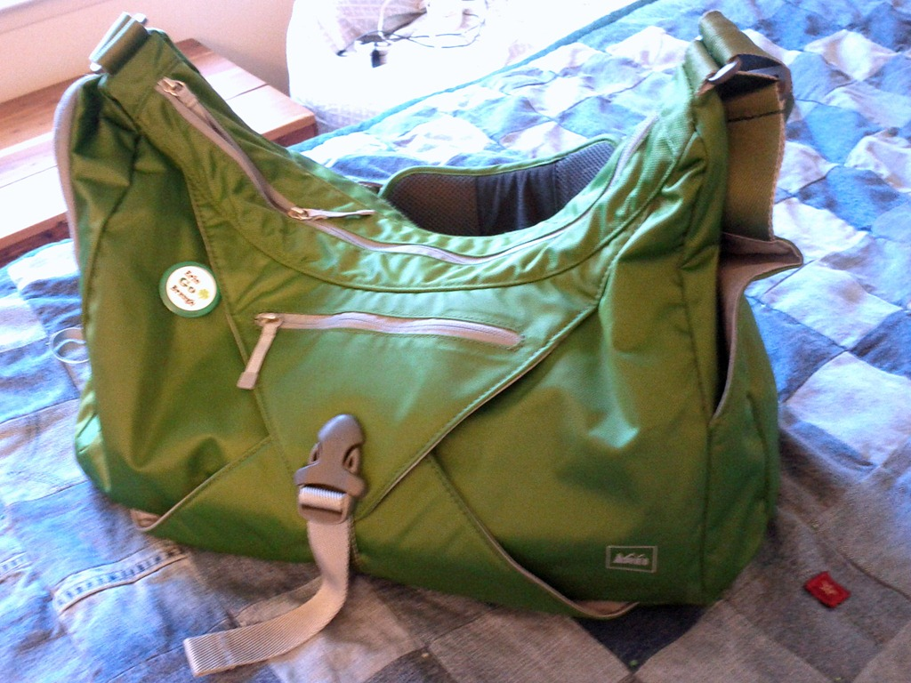 First things first  I carry the Balance Gym Bag from REI. I chose this one  because it has A LOT of room for all my stuff 4273af0f67b34