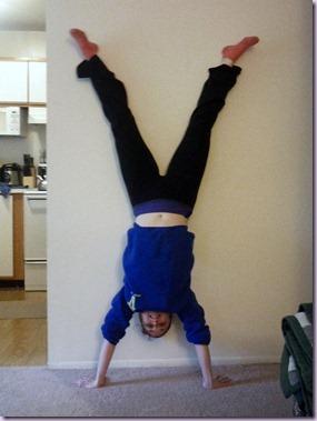 my first handstand